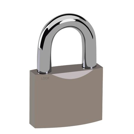 safe lock: Realistic illustration lock