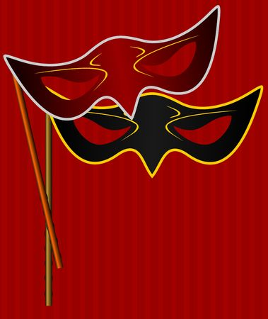 Realistic illustration of carnivals mask Vector