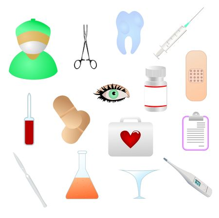 collection of  medical themed icons. Stock Vector - 6647579