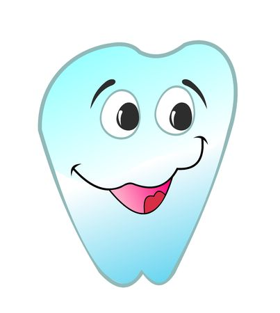 illustration of  happy smiling tooth is isolated on white background Vector