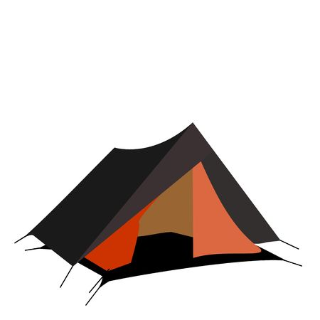 tarpaulin: Tourist tent isolated on a white background.