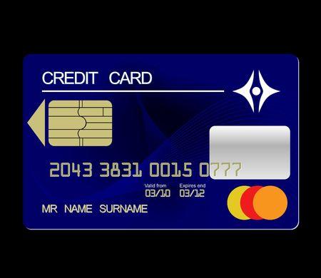 Realistic illustration credit card  Stock Vector - 6689460