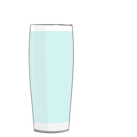 Realistic illustration glass with water Vector