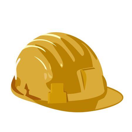 bauarbeiterhelm: Abbildung der Helm ist auf wei�em hintergrund isoliert.