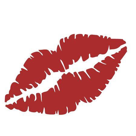 afbeelding van een close up van lippen Vector Illustratie