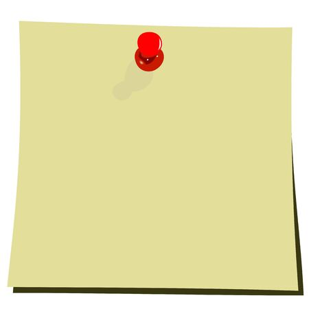 Realistic illustration of yellow note pad Stock Vector - 6689378