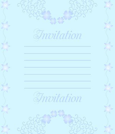 A beautiful luxury wedding invitation. Stock Vector - 6689461