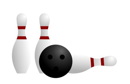 ten pin bowling: Realistic illustration ball and pin of bowling  Illustration
