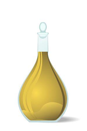 winetasting: Illustration white wine decanter - vector