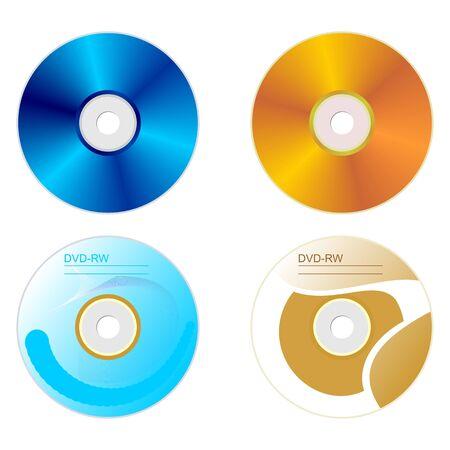 sides:  Realistic illustration set DVD disk with both sides