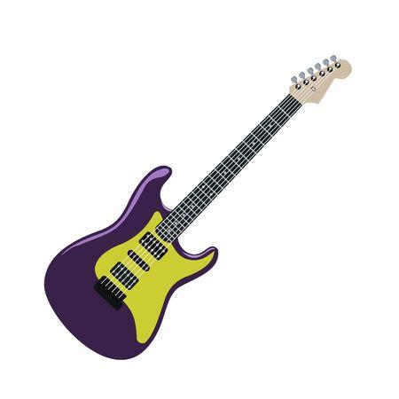 purple metal: Realistic illustration electric guitar Illustration
