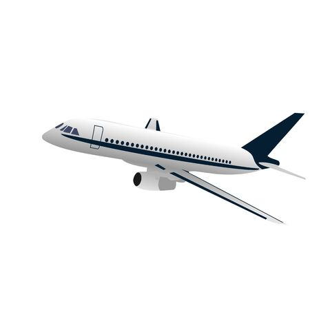 commercial airplane: Realisic illustration airplane