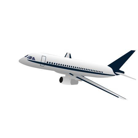 airplane engine: Realisic illustration airplane
