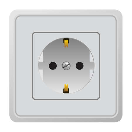 Realistic illustration power outlet Vector