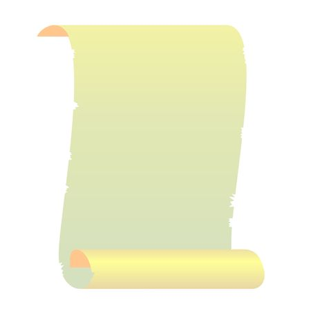 scroll up: Realistic illustration roll for manuscript