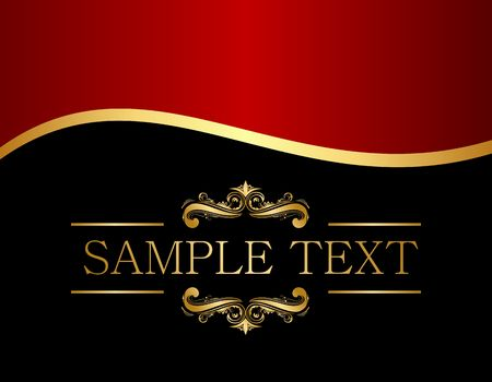 gold banner: luxury background for design
