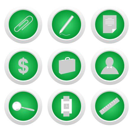 Green stickers Vector