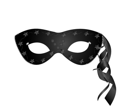 lent: realistic black carnival mask Illustration