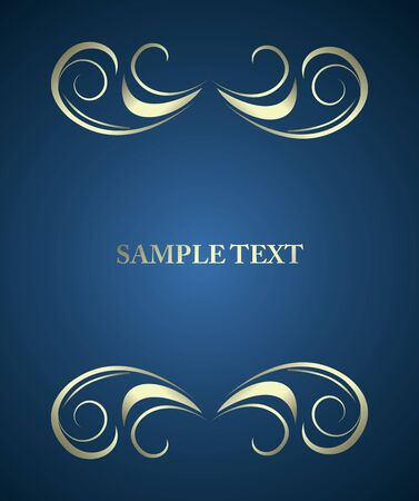 beautiful luxury card or invitation Vector