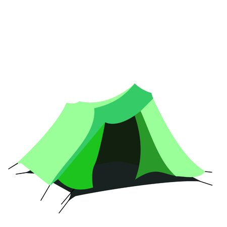 tarpaulin: Tourist tent isolated on a white background