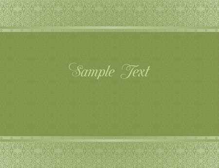 Green background for design of cards and invitation Vector