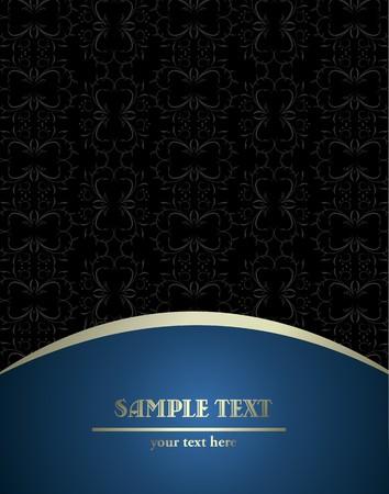 blue metallic background: beautiful luxury card or invitation