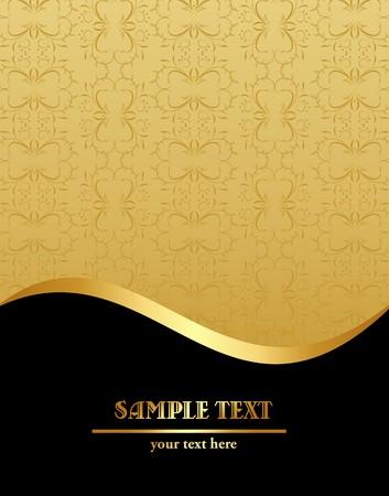 letras de oro: Plantilla de Vintage