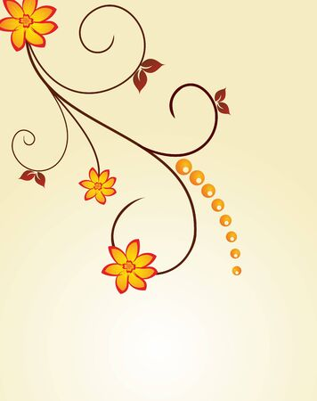 Floral decorative background for holiday card Stock Vector - 7589333