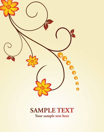 Floral decorative background for holiday card Stock Vector - 7589647