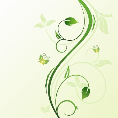 Floral fondo decorativo para tarjeta de vacaciones  Ilustración de vector