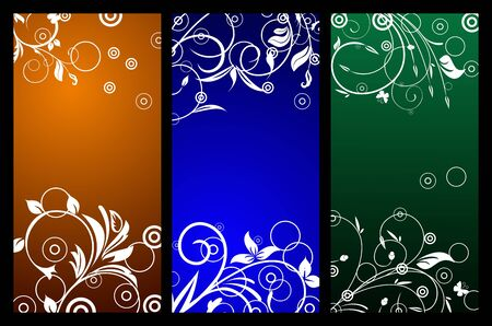Floral background with copy space Stock Vector - 7589385