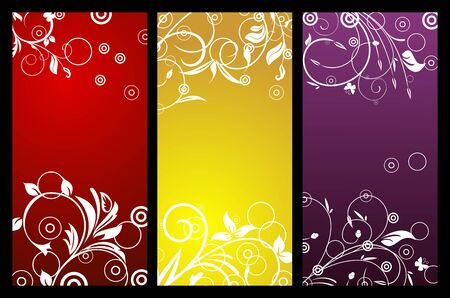 Floral background with copy space Vector