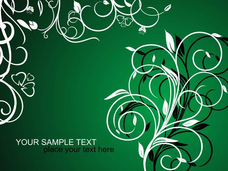 wishes romantic: Floral decorative background for holiday card
