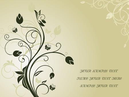 Floral background for design holiday card