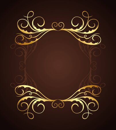 Illustration of beautiful vintage template Stock Vector - 7589340