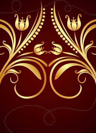 Gold background for design of cards and invitation Stock Vector - 7589719