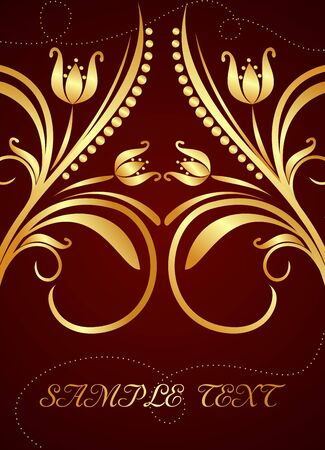Gold background for design of cards and invitation Stock Vector - 7589742