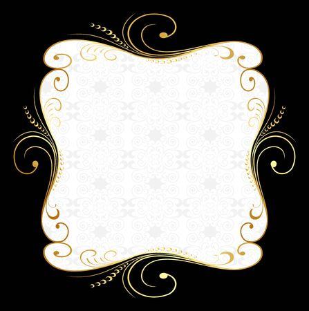 ornate gold frame: Ilustraci�n de oro marco floral
