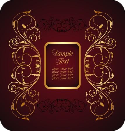 Illustration floral background card for design Stock Vector - 7589715