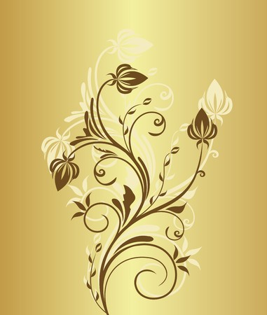 royal invitation: Illustration of gold floral vintage background for design invitation  Illustration