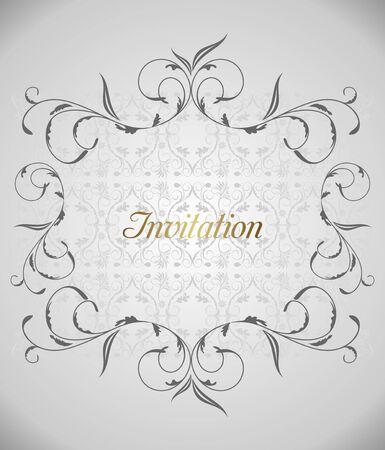 Floral background for design card