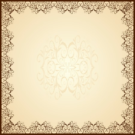 �ard: Illustration of cute guipure frame Illustration