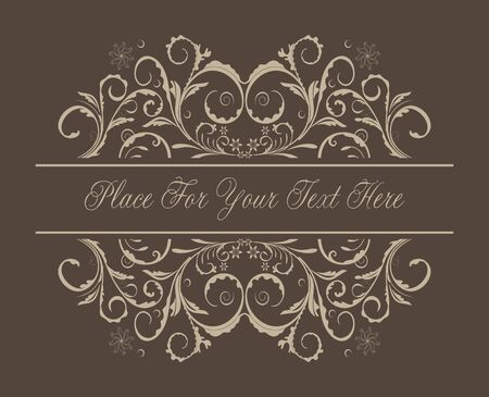 Floral background for design card Stock Vector - 7589661