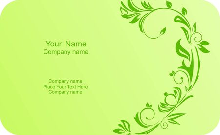 Illustration of template card company label with name  Vector