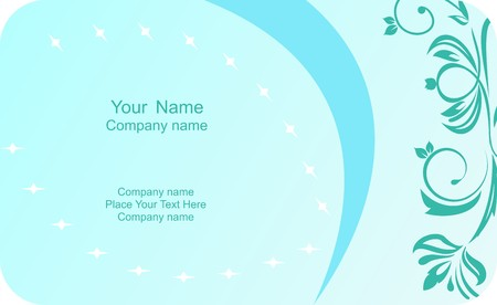 copy paste: Illustration of template card company label with name