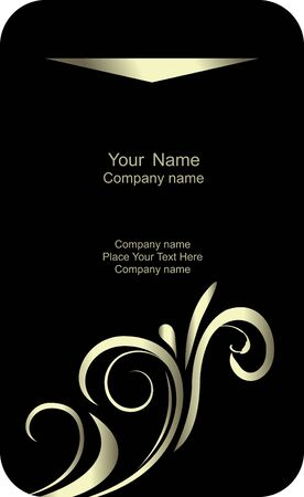 Illustration of template card company label with name  Stock Vector - 7589264