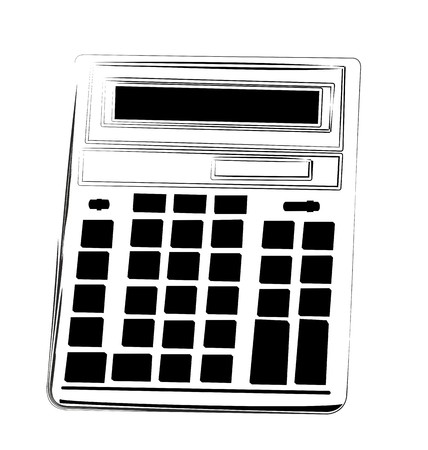 Cartoon illustration calculator Vector