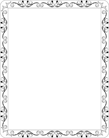 page decoration: Illustration blank floral frame border  Illustration
