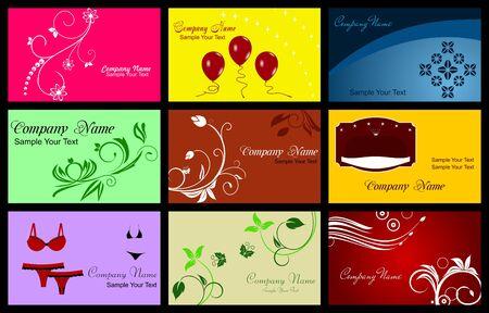 namecard: Illustration of Various Business Card  Illustration