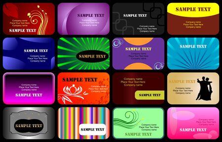 Various business cards templates set Illustration